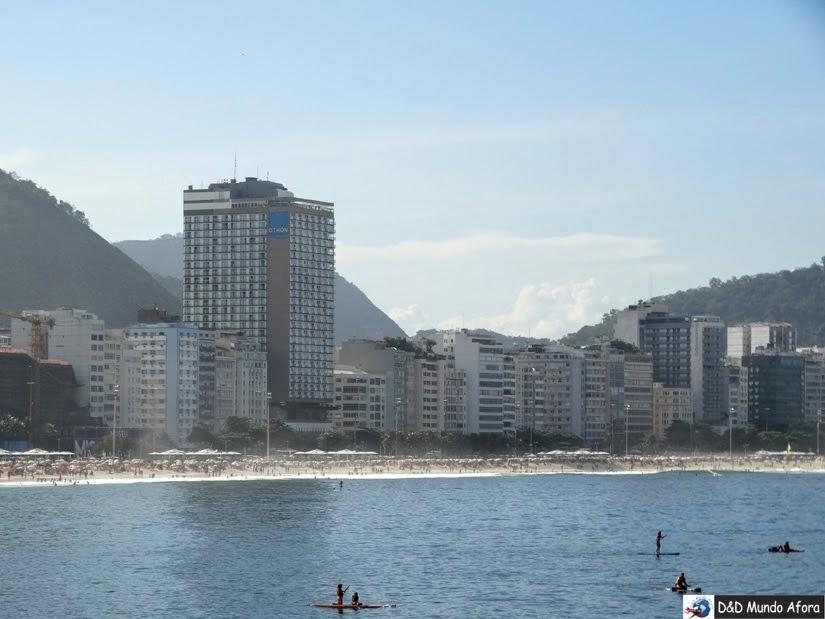 Praia de Copacabana vista da Confeitaria Colombo do Forte de Copacabana