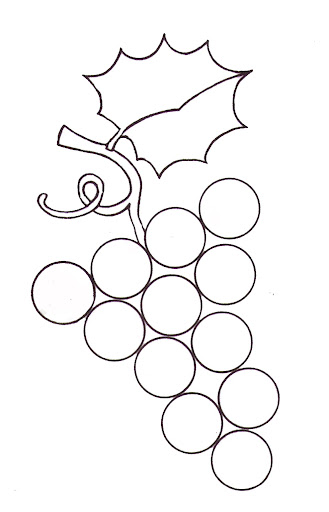 Manualidades con mis hijas: Los racimos de uvas, en ...