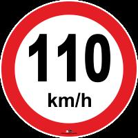 limite de 110 km/h (cento e dez quilômetros por hora) para automóveis