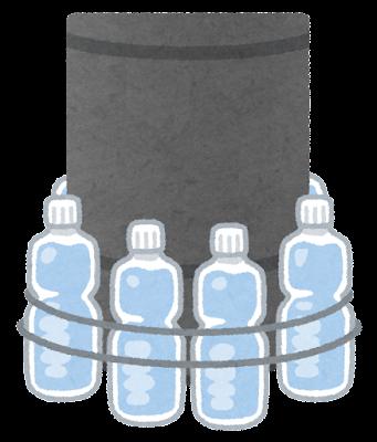 ペットボトルの巻かれた電柱のイラスト