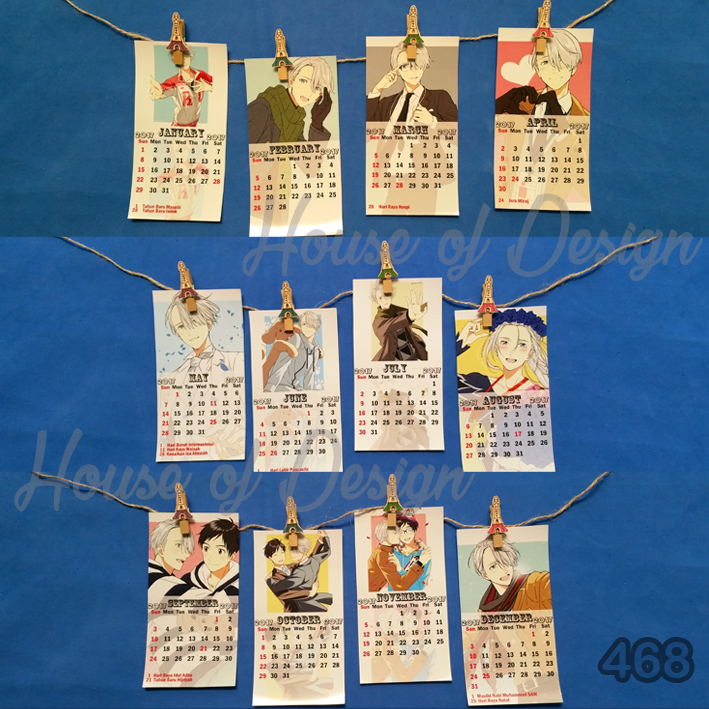 KALENDER POSTER MINI MAKKACHIN YURI ON ICE ANIME