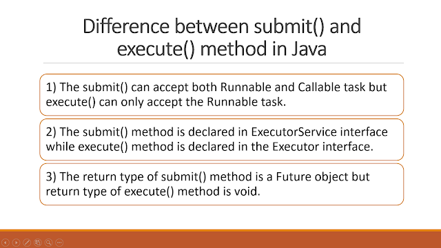 ExecutorService.submit() vs Executor.execute()