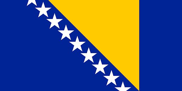 Logo Gambar Bendera Negara Bosnia dan Herzegovina PNG JPG ukuran 600 px