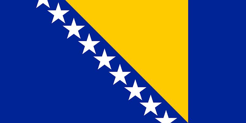 Logo Gambar Bendera Negara Bosnia dan Herzegovina PNG JPG ukuran 800 px