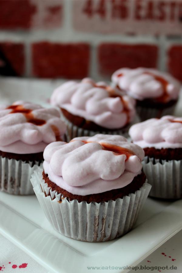 Vegane Gehirn-Cupcakes www.eatsewsleep.blogspot.de