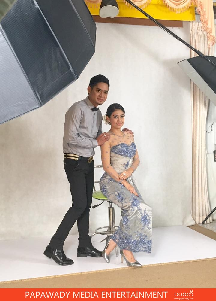 Myint Myat and Thinzar Wint Kyaw Couple Fashion Studio Photoshoot