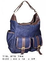 tas wanita bahan jeans