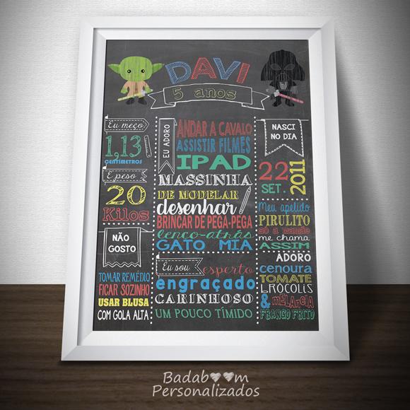Chalkboard, Quadro Lousa, Poster, Star Wars, Festa, Infantil, Decoração