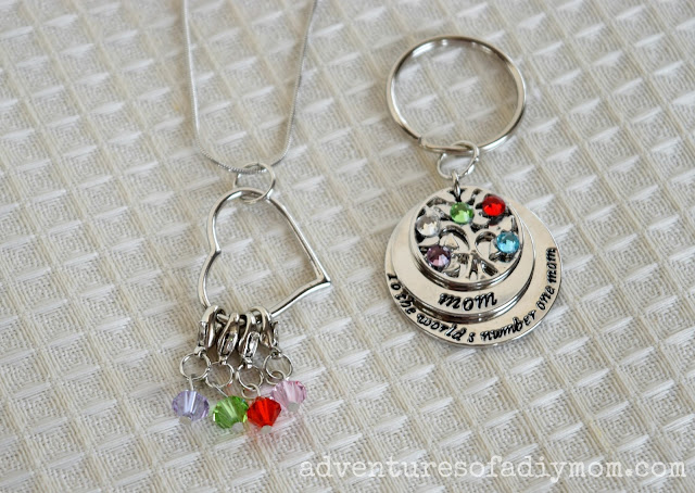 Mother's Day Keychain and Necklace
