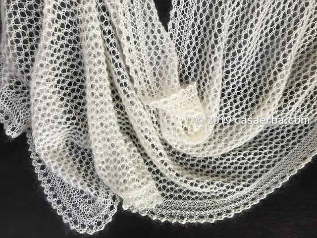 knit lace stole_silk kid mohair_ecru
