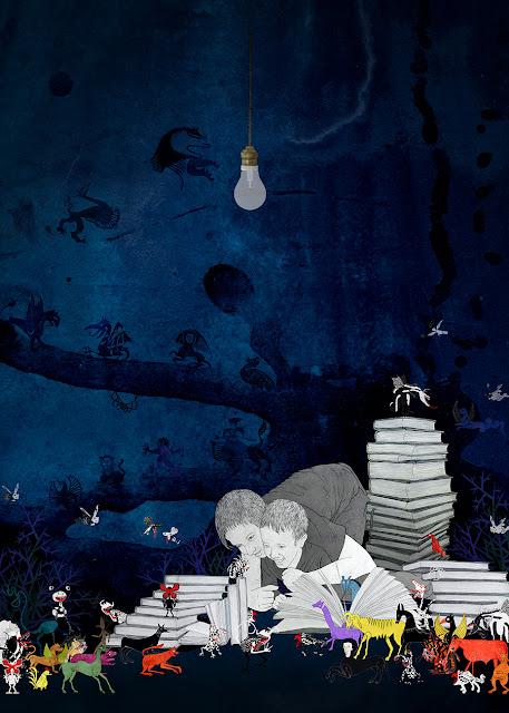 libros, niños, luz en la oscuridad, monstuos