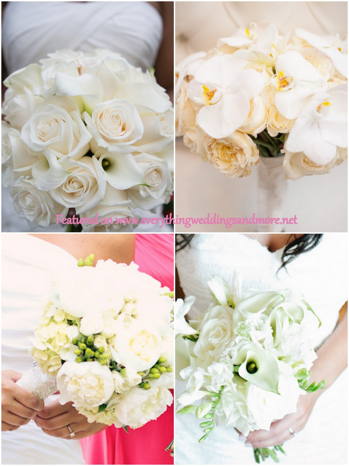 Types of Wedding Flowers Bouquets