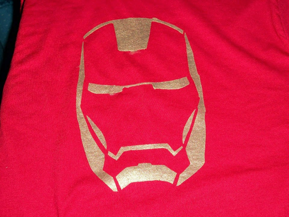 DIY painted Iron Man t-shirt