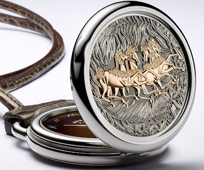 Hermès Arceau Pocket La promenade de Platon watch