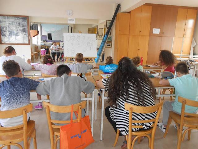 Μαθήματα σκίτσου στην Εύξεινο Λέσχη Βοΐου Νεάπολης Κοζάνης