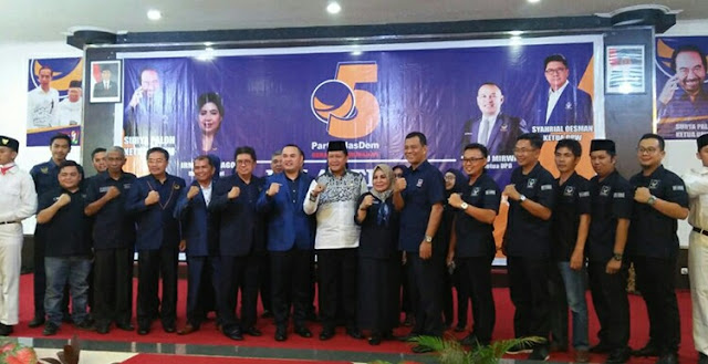 Ir.Syahrial Oesman Lantik Kepengurusan DPD Partai NasDem Kota Palembang