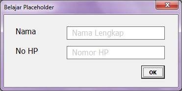 Membuat Placeholder di TextBox VBA Excel
