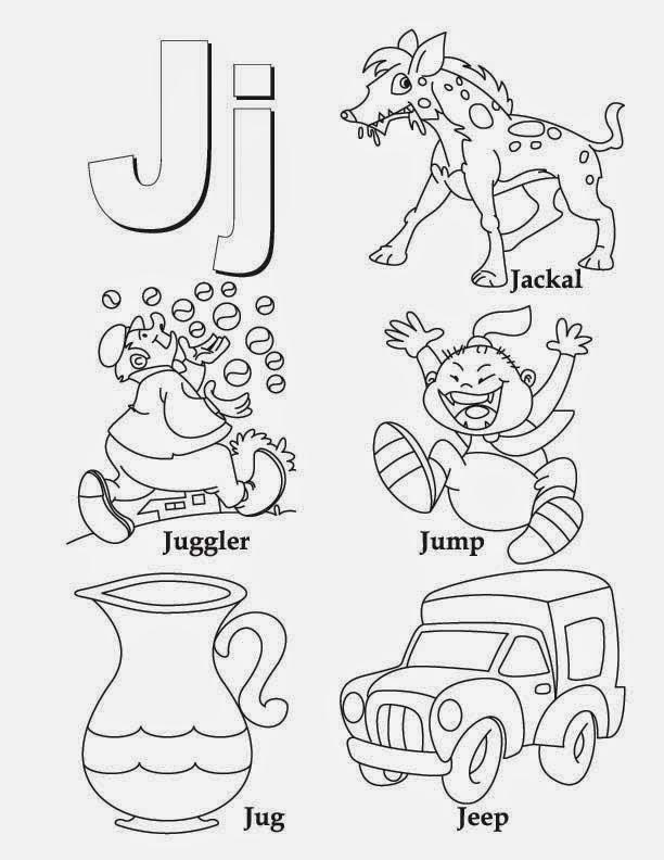 Kids Page Alphabet Letter J Worksheet