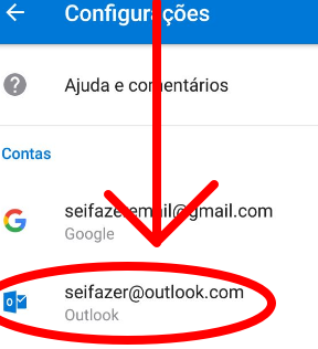 Como desconectar do Hotmail Outlook