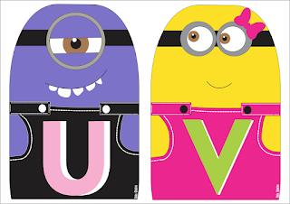 Abecedario de los Minions en Colores. Minions and Antiminions Letters.