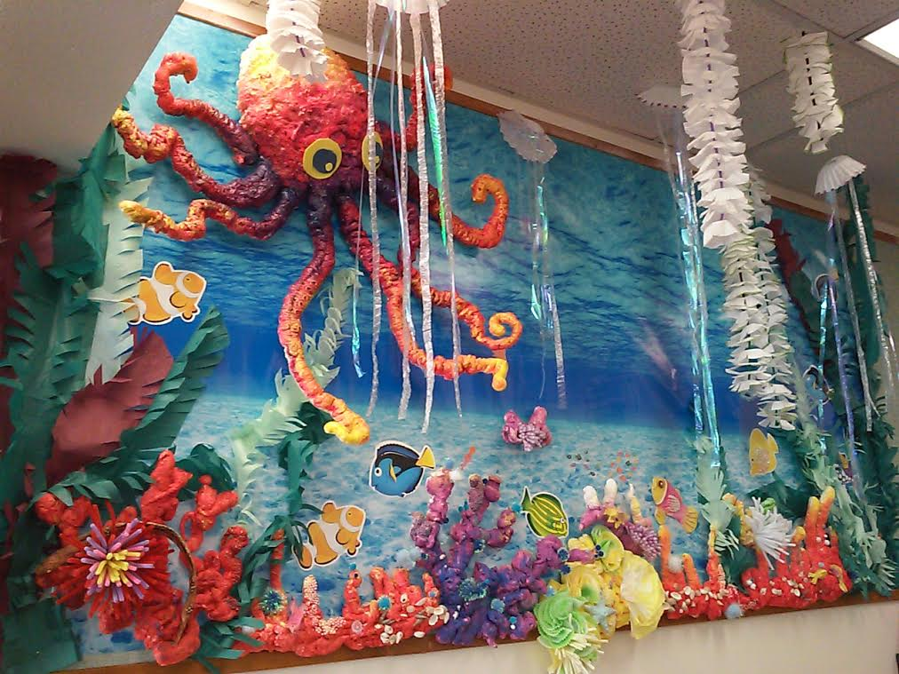 Underwater Ocean Themed Clroom Decorations on