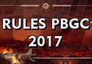 Rules Point Blank Garena (PBGC) 2017