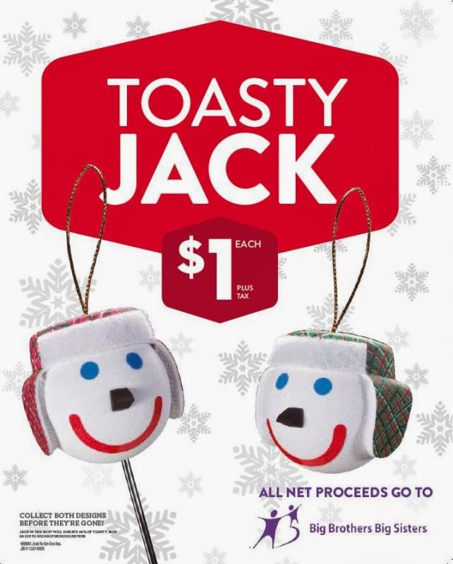 jack in the box is once again offering a christmas jack head ornament toasty jack as a holiday fundraiser to benefit big brothers big sisters - Jack In The Box Open On Christmas