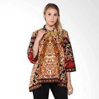 model baju batik muslim untuk orang gemuk agar terlihat langsing