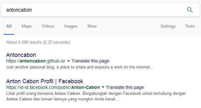 Blog Antoncabon Menghilang dari Mesin Pencarian