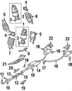 2010 Acura MDX Exhaust System Parts and Components