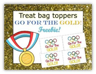 Olympics Treat Bag Toppers Freebie!
