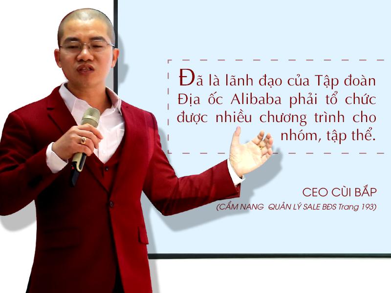 CEO Cùi Bắp: Lãnh đạo phải tổ chức nhiều chương trình cho tập thể