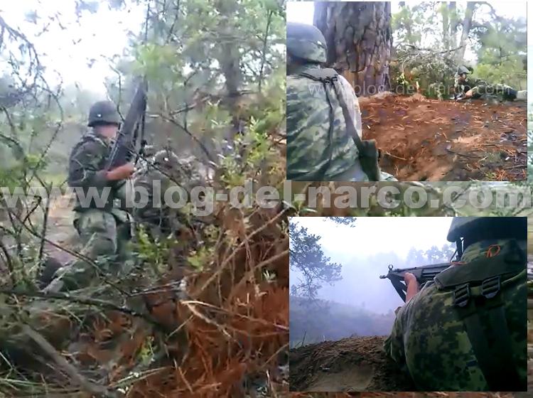 Video elementos del ejército durante enfrentamiento