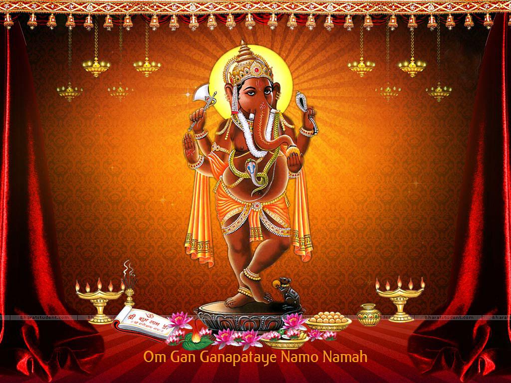 Hare Krishna: Shri Ganesh Wallpaper-4