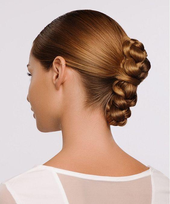 upięcie z długich włosów, long hair updo, formal, sleek