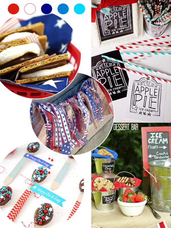 4th of July Party Ideas, Recipes, Printables & Crafts - via BirdsParty.com