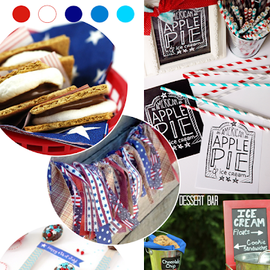 4th of July Party Ideas, Recipes, Printables & Crafts