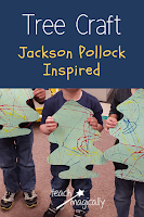 Christmas Tree Craft Inspired by Jackson Pollock by Teach Magically