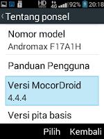 UI Andromax Prime