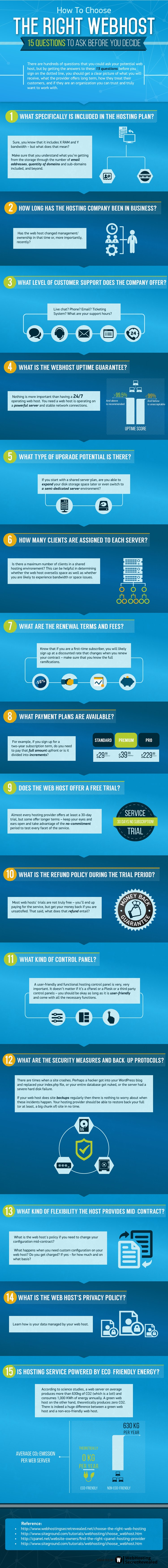 How to Pick Up the Best Web Host #infographic