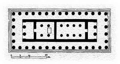 planta templo de apolo en corinto