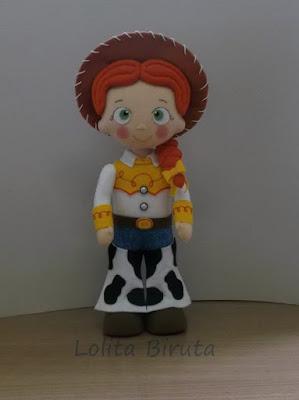 Boneco Toy Story Jessie em feltro para decoração de festa