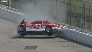 Days After Hard Crash, NASCAR's Larson Rolls Sushi