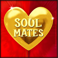 Soul Mates text on gold heart free image for texting
