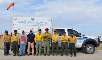 Mescalero Helitack Crew: Kevin Pellman Aldon R. Coriz, , David Melendrez, Golden Moore (BIA); Chris Jensen, Tony Carpenter, Louis M. Bouvier (USFS); Nate Maplesden, Miguel Laurenzana (Mountain Air Helicopters).