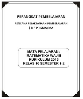 RPP Matematika Wajib Kurikulum 2013 Kelas 10 SMA MA