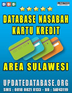 Jual Database Nasabah Kartu Kredit Area Sulawesi