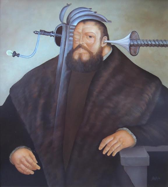 Gregorio Sabillón pintura surrealista en Gaudifond Arte
