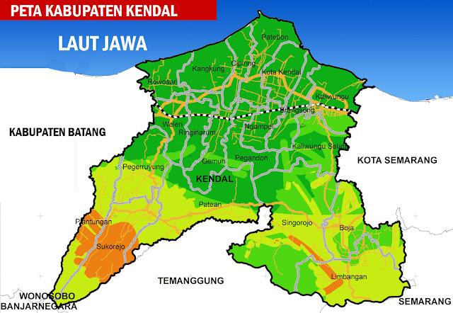 Gambar Peta Kabupaten Kendal, Jawa Tengah