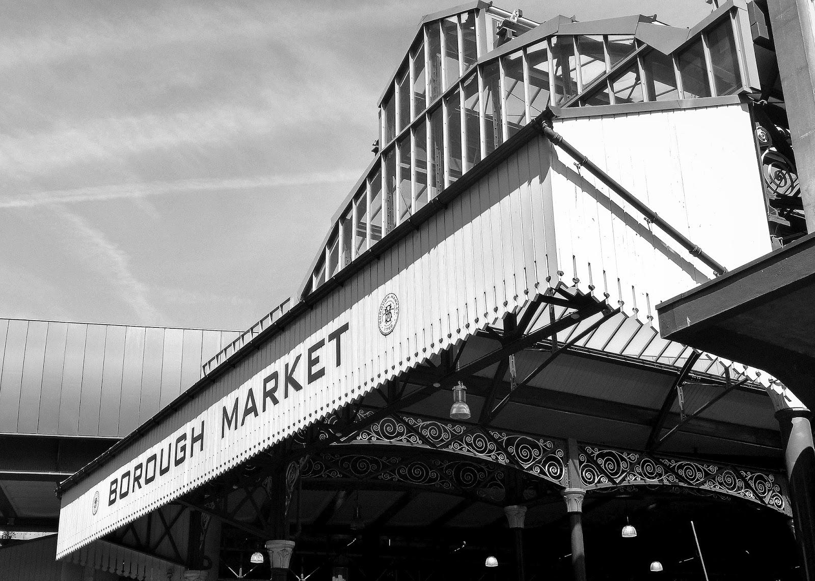 Borough Market, London Bridge - where I am reflecting on the defiant spirit of London and its communities.